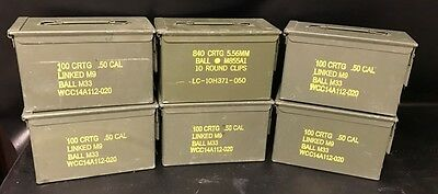AMMO CAN (6 PACK) 50 CAL/5.56mm       FREE SHIPPING!