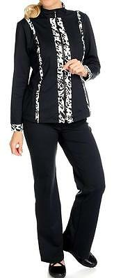 NEW - Propella™ Stretch Nylon Zip Front Jacket, Pull-on Pants & Tank Set - S,M,L