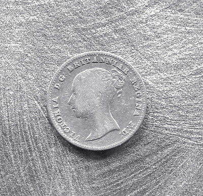 Great Britain - Beautiful Historical Qv Silver Groat, 1839