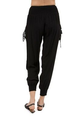 Caroline Morgan Gypsy Travellers Black Betty Harem Happy Gypsy Pants With Ties