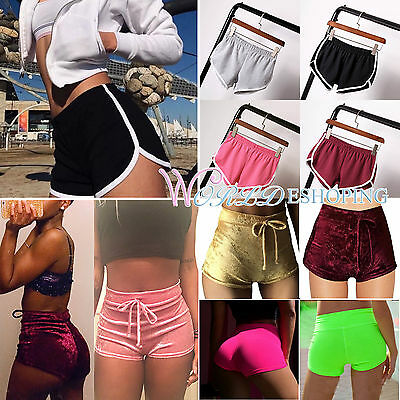 Womens Summer Pants Sports Shorts Gym Workout Skinny Yoga Fitness Hot Pants NEW