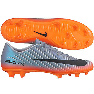 875ce37c Nike Mercurial Victory VI FG 2017 CR7 Ronaldo CR Soccer Shoes Chrome /  Orange