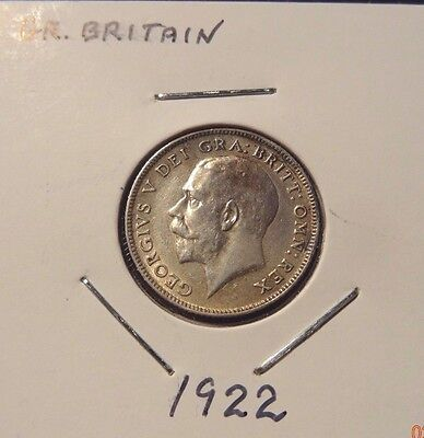 1922 Great Britain Six Pence UK Coin - Britain