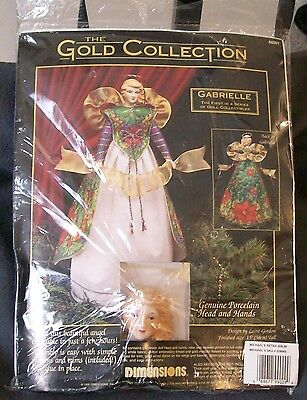 NEW-Dimensions Gold Collection Gabrielle Porcelain Angel Doll Kit-RARE-SEALED