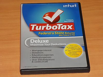 LOOK  *Retail* 2011 TURBOTAX DELUXE CD TURBO TAX CD for FEDERAL RETURN