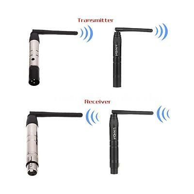 LIXADA 2.4G ISM DMX512 Wireless Male XLR Transmitter Receiver LED Lighting