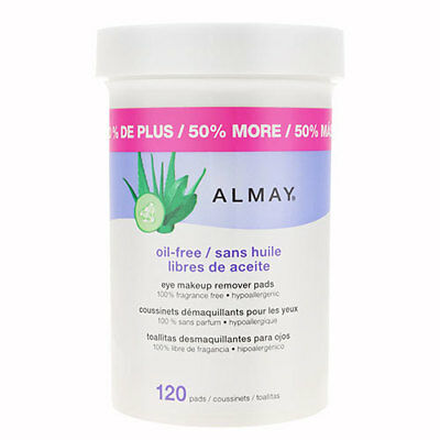 Almay Eye Makeup Remover Pads - Oil Free (120 pads)