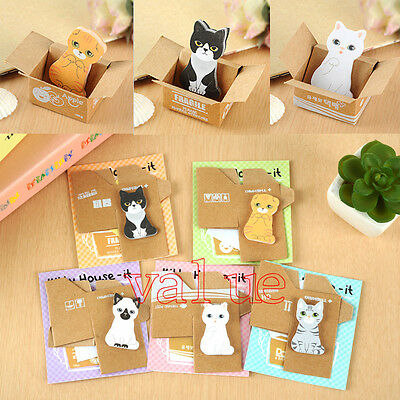 3/5PCS Kitty House It Funny Sticker Post It Bookmark Mark Tab Memo Sticky Notes