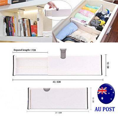 Drawer Dividers White Spring Loaded Expandable Kitchen Bedroom Organizer MN