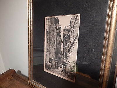 ANTIQUE 19th CENTURY ETCHING NICE CONDITION INTERNATIONAL SALE
