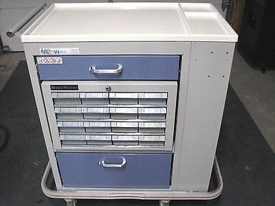 Waterloo Double Sided Locking Mobile Medication Medical Procedure Crash Cart