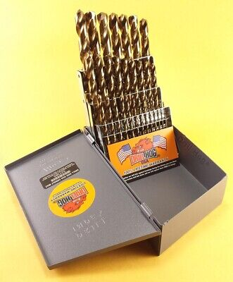 Drill Hog® 29 Pc Cobalt M42 Drill Bit Set Index Drills 100% Lifetime Warranty