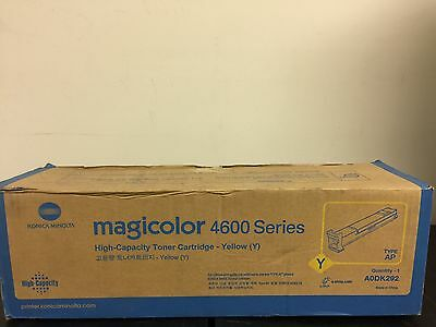 Genuine Konica Minolta Magicolor 4600 Yellow Toner Cartridge Type Ap Aodk292