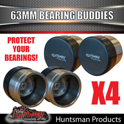4x 63mm ALL STAINLESS STEEL TRAILER BEARING PROTECTORS. BEARING BUDDIES BOAT
