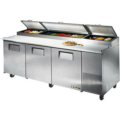 New True TPP-93 Commercial Refrigerator Pizza Prep Table Cooler