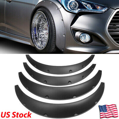 "JDM Universal Fender Flares ABS Overfenders Wide Body Set 2.75"" (70mm) 4pcs New"