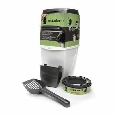 Litterlocker II 2 Cat Kitten Litter Disposal System Unit Pail Bin