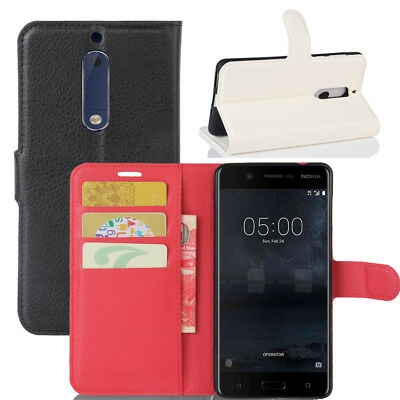 Luxury Flip Stand Leather Soft TPU Cover Wallet Case for Nokia 3 5 6 8
