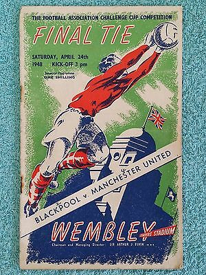 1948 - FA CUP FINAL PROGRAMME - BLACKPOOL v MANCHESTER UNITED