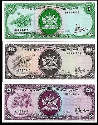 Trinidad & Tobago. Five, Ten & Twenty Dollars, Law 1964, (iss;1977).