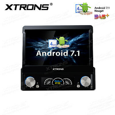 "UK 7"" Single 1 DIN Android 6.0 Car DVD Player Stereo Radio Motorized GPS Sat Nav"