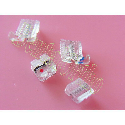 20/PK, Clear Resin Brace Roth 022 Dental Orthodontic WH Metal Slot Archwire
