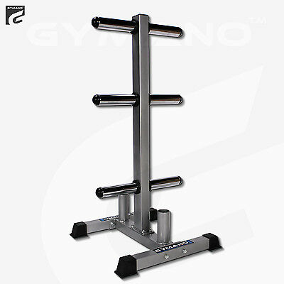 "Gymano™ | Olympic 2"" (50 Mm) Weight Plate/disc + Bar Rack/tree/storage/stand"