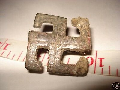 ROMAN SWASTIKA MILITARY BROOCH 1st Century BC - 1st AD,(V.RARE)! W/CERT.PAPERS