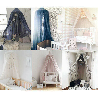 Princess Bed Canopy Baby Kids Reading Play Tents Cotton Mosquito Bedding Net