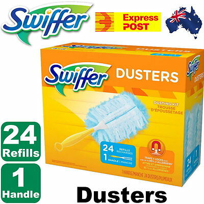 NEW Swiffer Dusters 24 Refills + 1 Handle Dusting Kit by Express Post