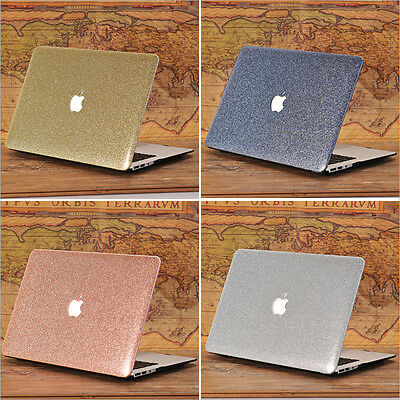 """Glitter Bling Leather Coated Shiny Case for MacBook Pro 13"""" 13.3"""" 15.4""""Touch Bar"""