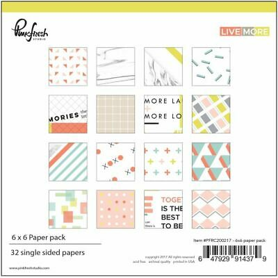 Pinkfresh Studio - Live More - 6x6 Paper Pad 32 Blatt