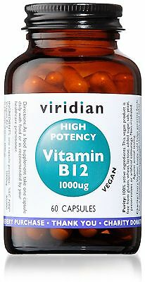 Viridian High Potency Vitamin B12 1000ug Vegicaps 60
