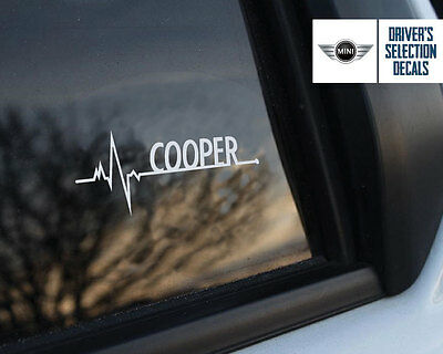 BMW Mini Cooper is in my Blood window sticker decals graphic