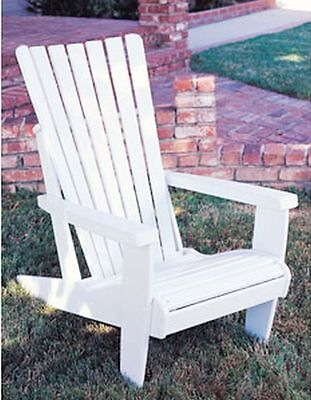 Adirondack Chair Easy DIY Woodworking Project  - Paper Plans Only