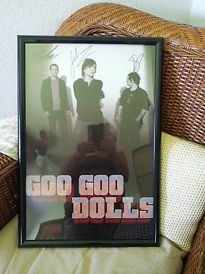 Goo Goo Dolls Authentic Autographed Concert Signed Framed Tour Poster 2010 Miami