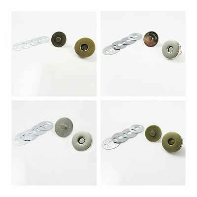 MAGNETIC BAG CLASP FASTENERS 14mm & 18mm REPLACEMENT HANDBAGS PRESS STUD CLOSURE