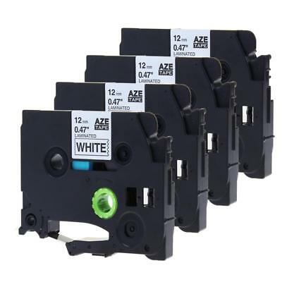 4pk Label Tape TZ-231 TZe-231 Compatible for Brother P-touch Standard Adhesive