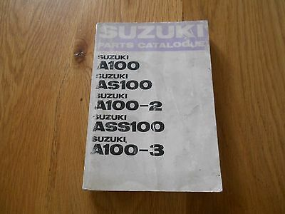 Suzuki A100,Parts book list catalogue diagrams, 1st edition printed 1969