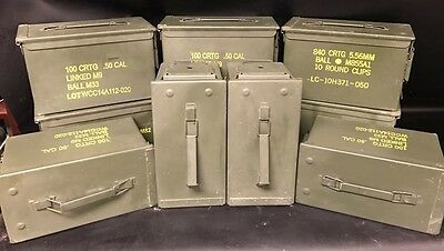 AMMO Can Box US ARMY Military  M2A1  Ammunition Metal Box  50 Cal  Pack of 8