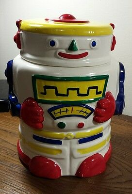 Vintage 1985 Taylor & NG Whitebot Robot Cookie Jar Ceramic