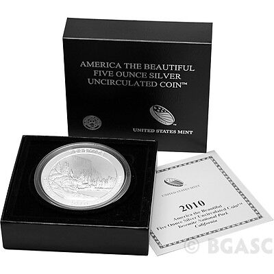 2010-P Yosemite - 5 oz Silver ATB in Mint Box & Certificate of Authenticity