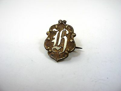 Antique Collectible Pin: Calligraphy H Beautiful Design