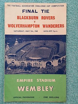 1960 - FA CUP FINAL PROGRAMME - BLACKBURN ROVERS v WOLVES