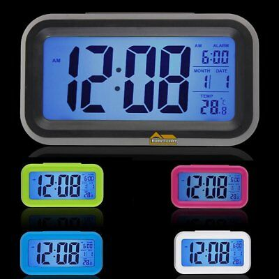 BATTERY ALARM CLOCK WITH DIGITAL LCD DISPLAY /BLUE BACKLIGHT and SNOOZE
