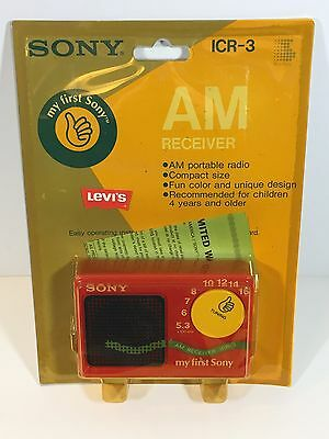 NOS ICR-3 Am Radio Receiver My First Sony Levi's Blue Jeans Promo Vintage New