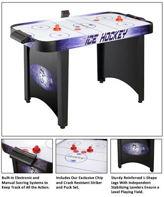 Hat Trick 4' Air Hockey Game Table By Carmelli