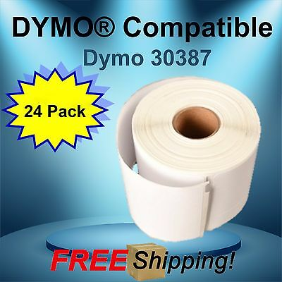24 Rolls Dymo Compatible 30387-3 Part Labels for Shipping