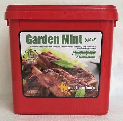 Middleton Foods 🌾 GARDEN MINT Meat Glaze Marinade Seasoning Mix 2.5kg Red Tub