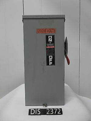 GE 240 Volt 100 Amp NEMA 3R Fused Disconnect/Safety Switch (DIS2372)